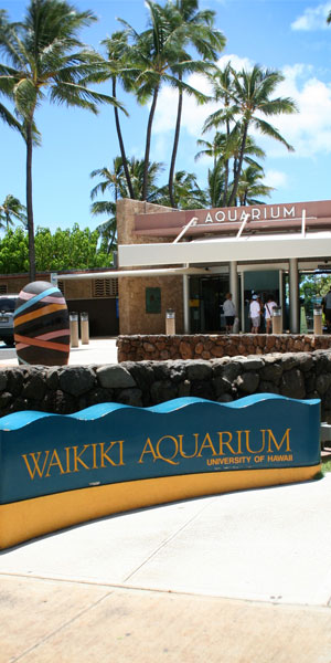 Waikiki Aquarium Entrance