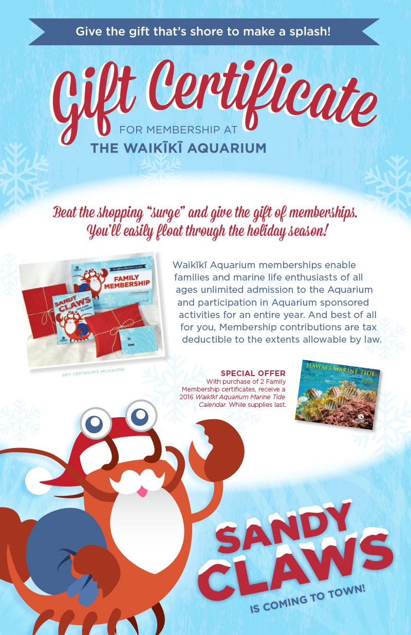 Membership Gift Certificates